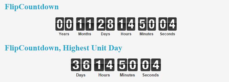 Flip Countdown